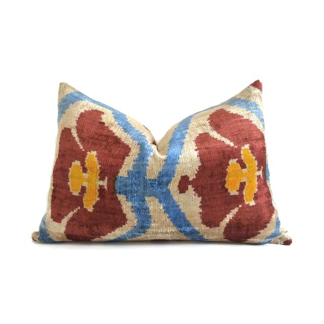 Sukan Chevron Ikat Throw Pillow
