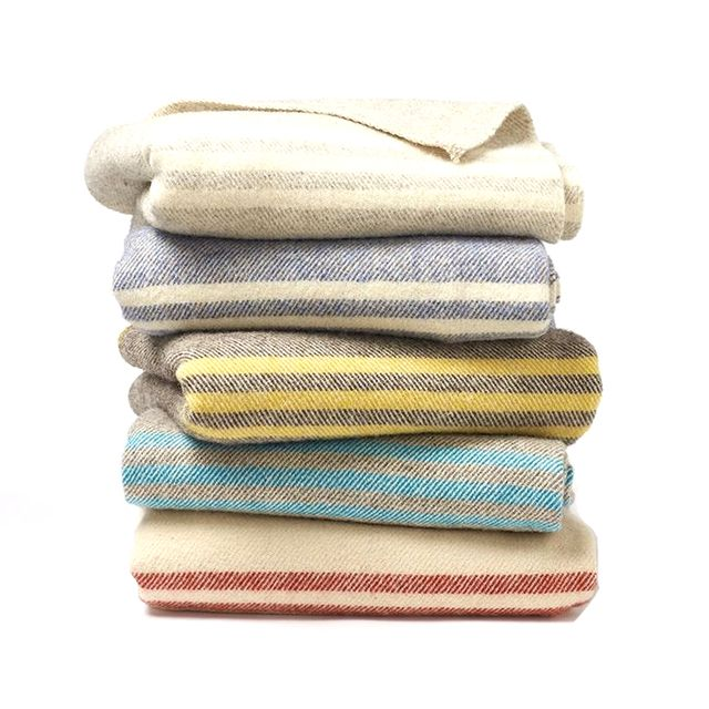 Coyuchi Striped Natural Wool Blanket
