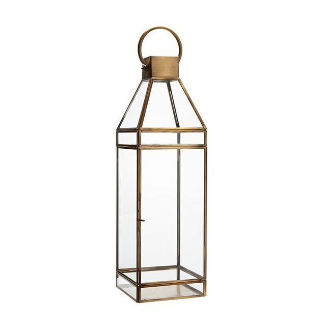 Pottery Barn Meredith Brass Lantern