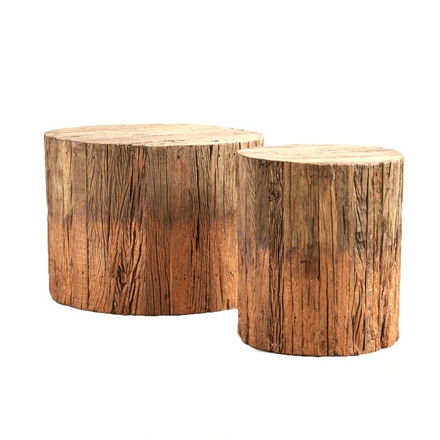 Anthropologie Reclaimed Wood Side Table