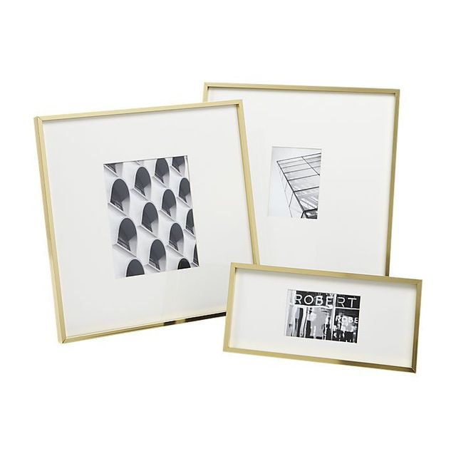 CB2 Gallery Brass Picture Frames