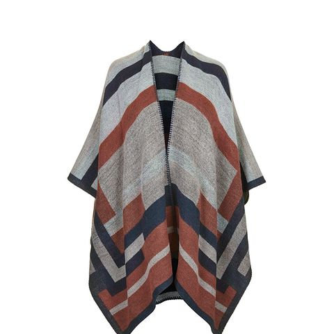 Colorblock Geometric Cape