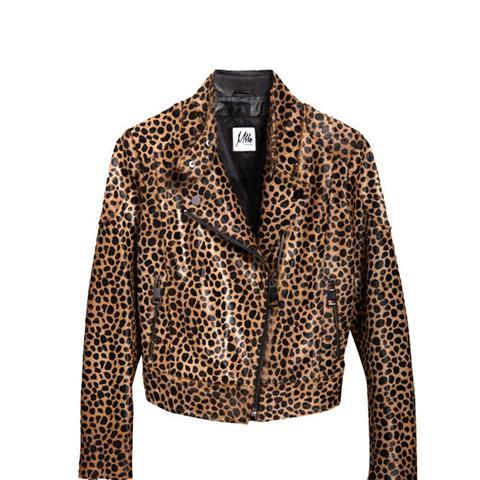 Rumi Leopard Biker Jacket