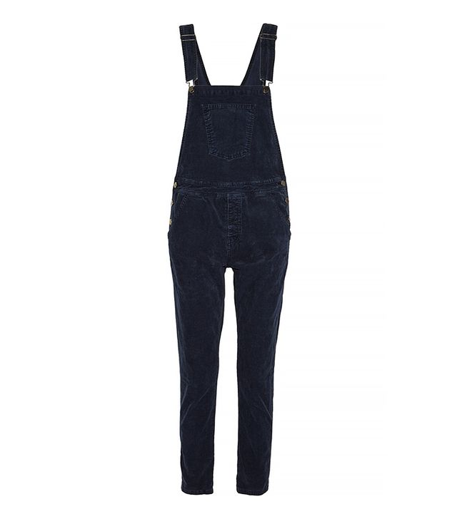 Current/Elliott Shirtley Stretch-Corduroy Overalls