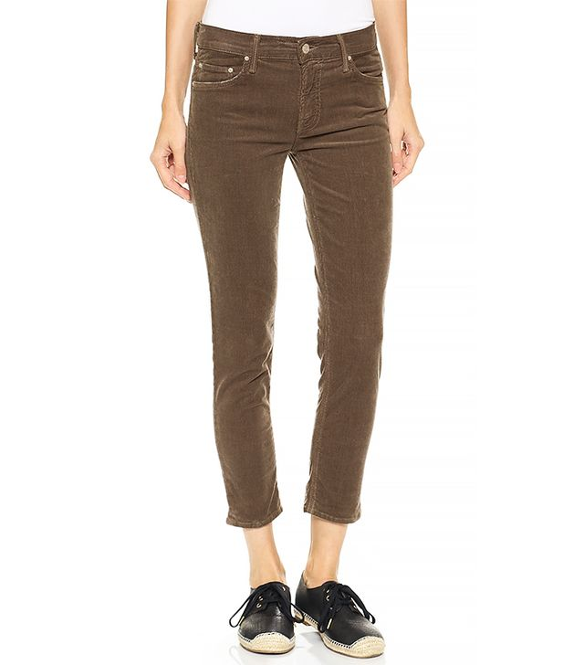 Mother The Dropout Slouch Skinny Corduroy Pants