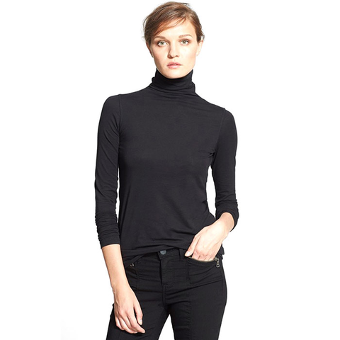 Vince Favorite Soft Cotton Turtleneck