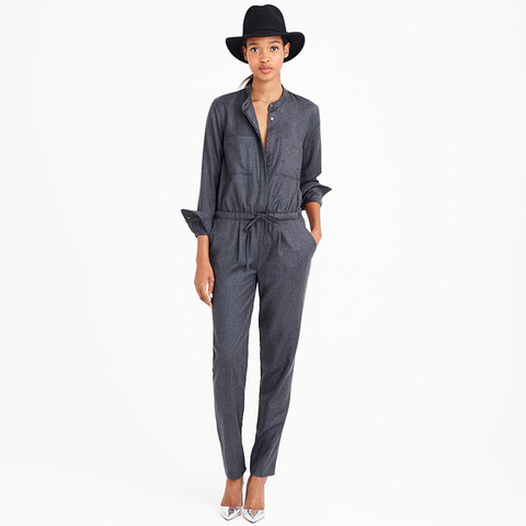 J.Crew Collection Italian Wool Jumpsuit