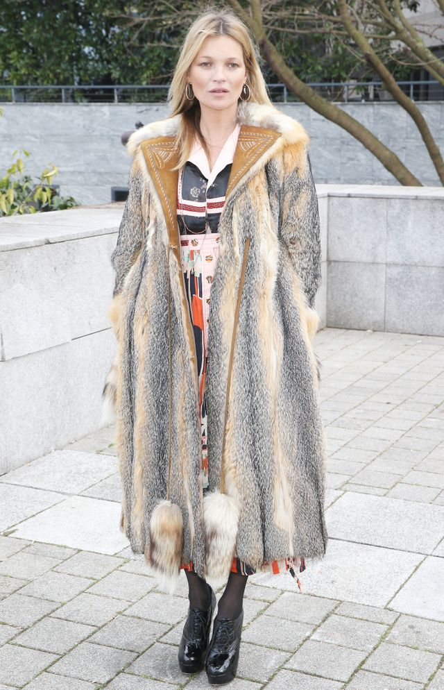 Only Kate Moss Could Get Away With Wearing This Coat