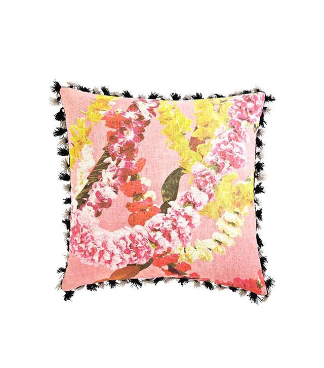 Leif Floral Garland Tassel Trim Pillow