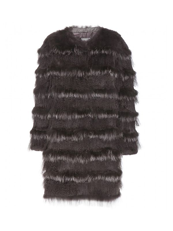 Meteo by Yves Salomon Shearling and Fur Coat