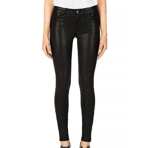 Leather Super Skinny Pants