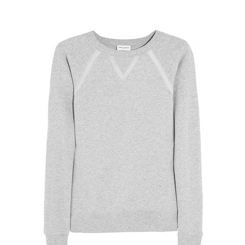 Grossgrain Cotton-Jersey Sweatshirt