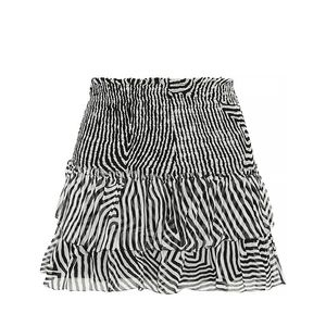 Derek Printed Silk-Chiffon Mini Skirt