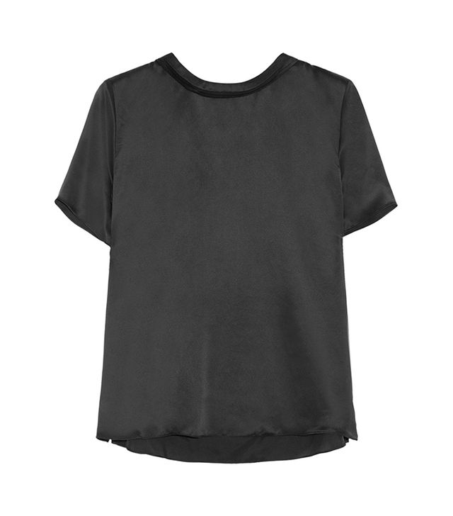 Band of Outsiders Sandwashed Silk Top