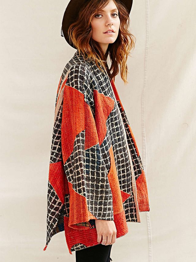 Urban Outfitters Renewal Recycled Kantha Quilt Coat