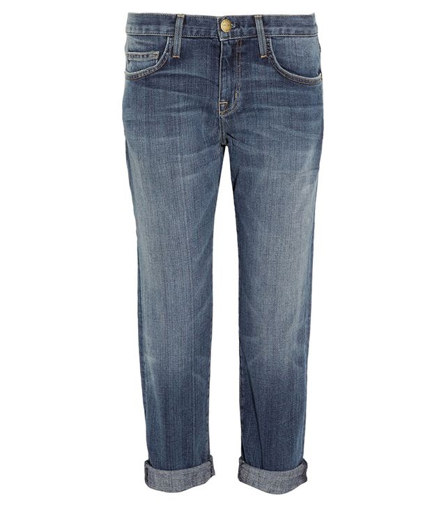 Current/Elliott Boyfriend Cropped Mid-Rise Jeans