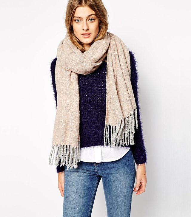 Pieces Oversized Wrap Scarf