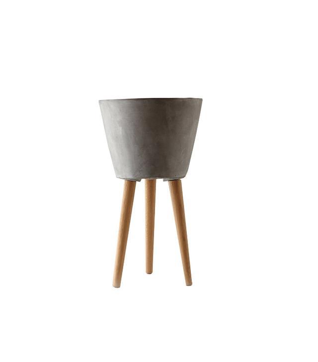 Terrain Tapered Wooden Leg Pot