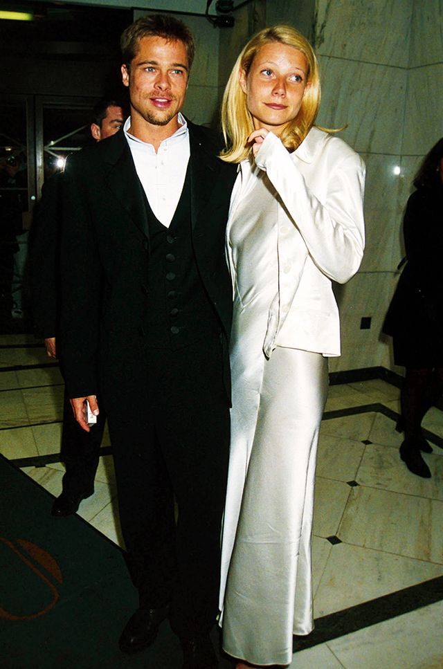 Gwyneth Paltrow with Brad Pitt, 1991