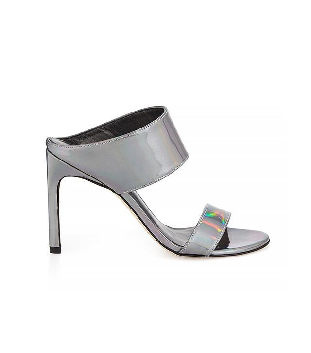 Stuart Weitzman MySlide Metallic Specchio Sandals
