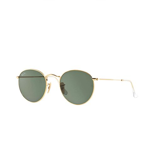 Round Metal Green Classic Sunglasses