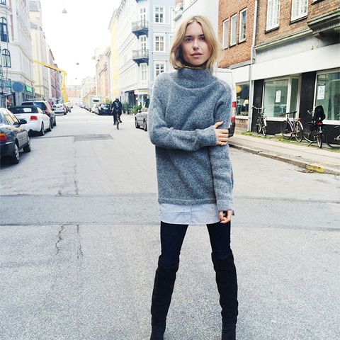 dress - How Olivia Palermo Keeps Warm in Frigid Temperatures video
