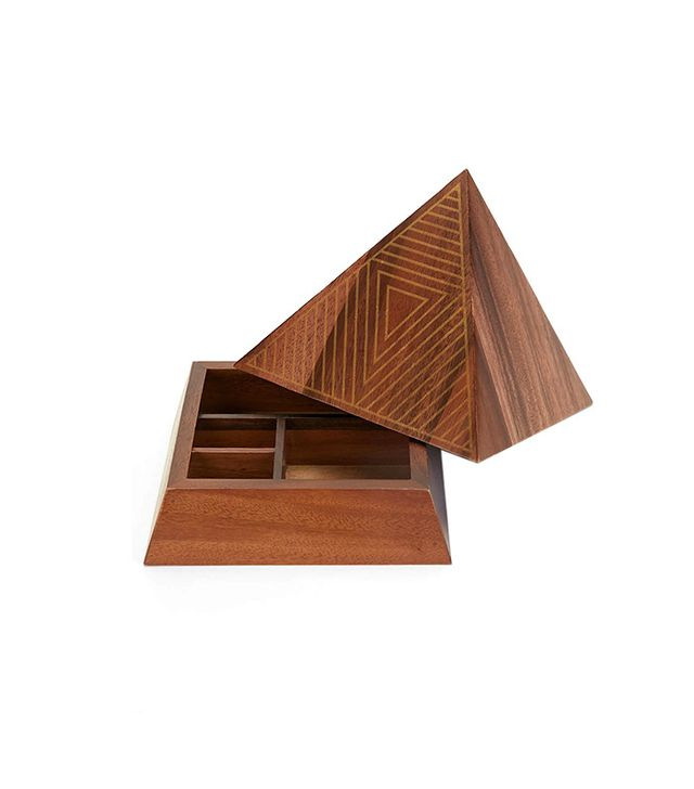 ARTS THREAD X UO Make It Wooden Pyramid Jewelry Box