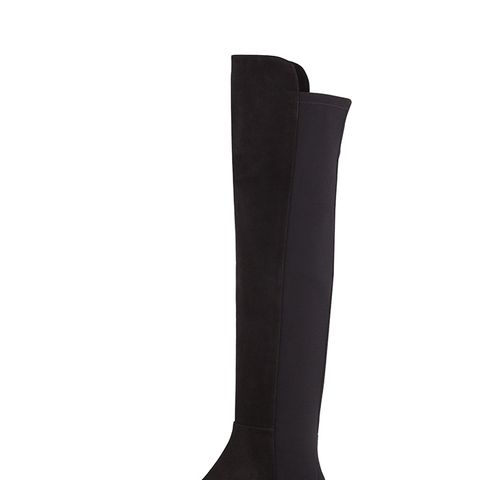 50/50 Suede Stretch Over-the-knee-Boots