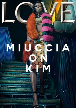Kim Kardashian's Solo Cover for LOVE Magazine