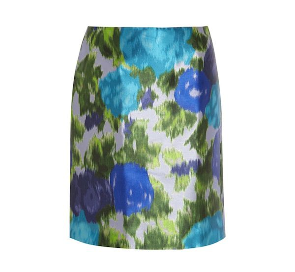 Michael van der Ham Printed Satin-Twill Skirt