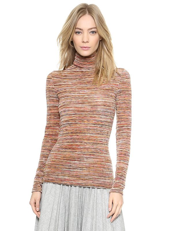 Rodarte Variegated Knit Turtleneck