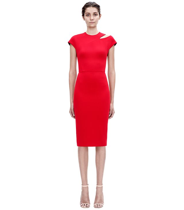Victoria Beckham Cap Sleeve Cut Out Dress