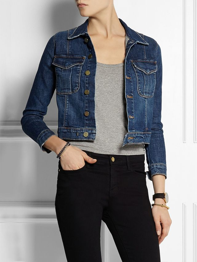 Frame Denim Le Military Stretch-Denim Jacket