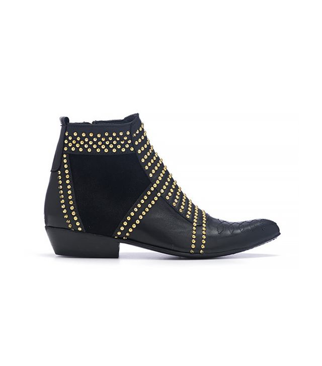 Anine Bing Gold Stud Boots