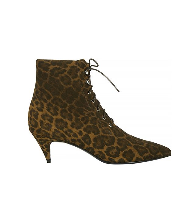 Saint Laurent Leopard-Print Ankle Boots