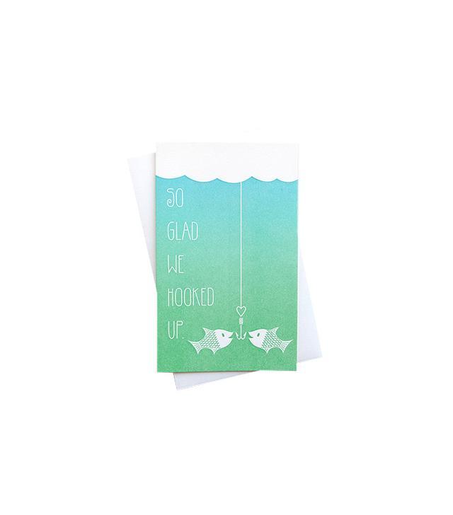 Anemone Letterpress Hooked Up Letterpress Love Card
