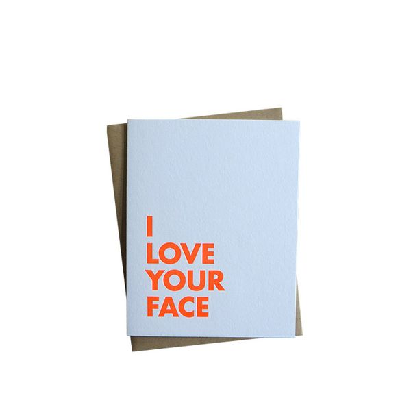 SweetWater Letterpress I Love Your Face Card