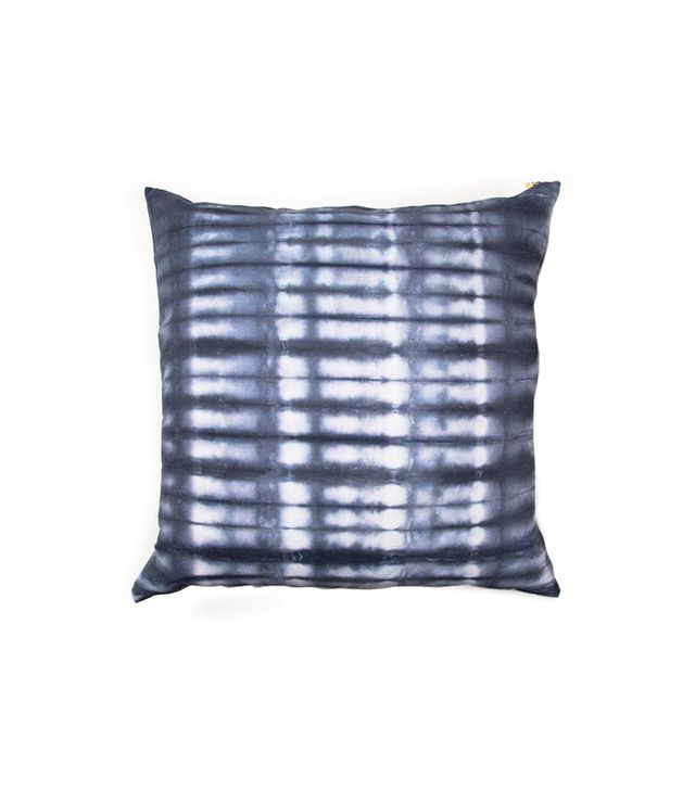 Rebecca Atwood Navy Striped Shibori Pillow