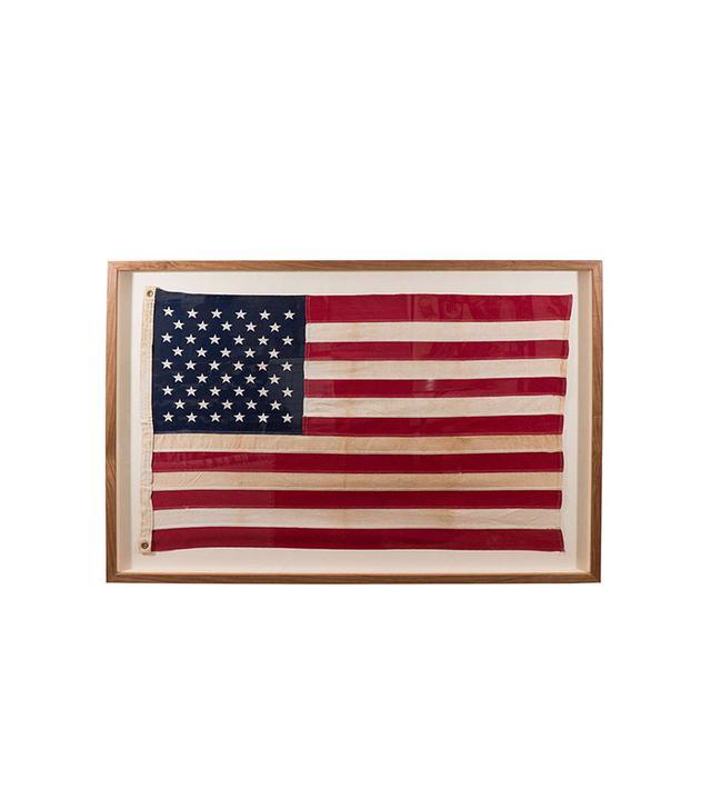 1st Dibs Framed Vintage American Flag