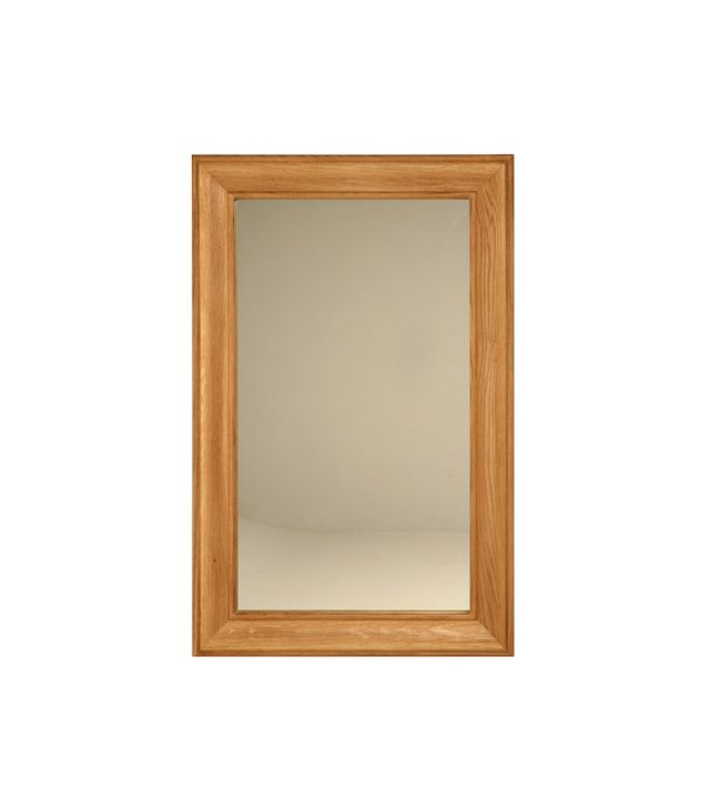 Old Plank Road Oak Frame Mirror