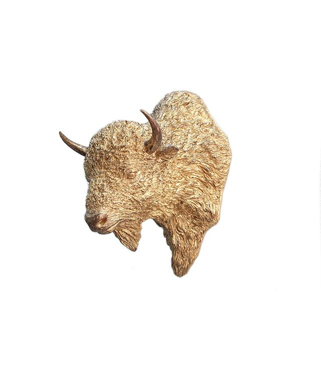 Nickey Kehoe Paper Taxidermy Gold Bison