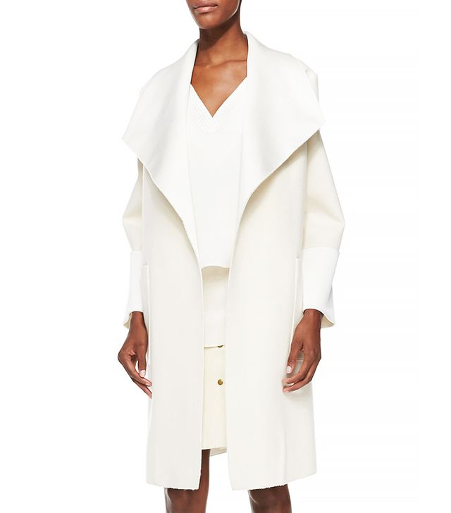 Adam Lippes Double-Face Oversized-Collar Coat