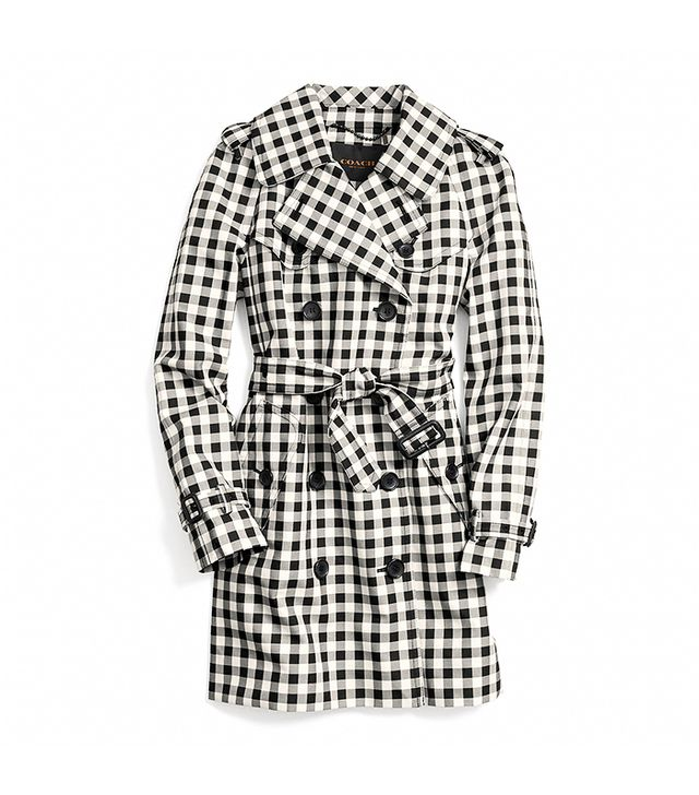 Coach Mid-Length Check Trench