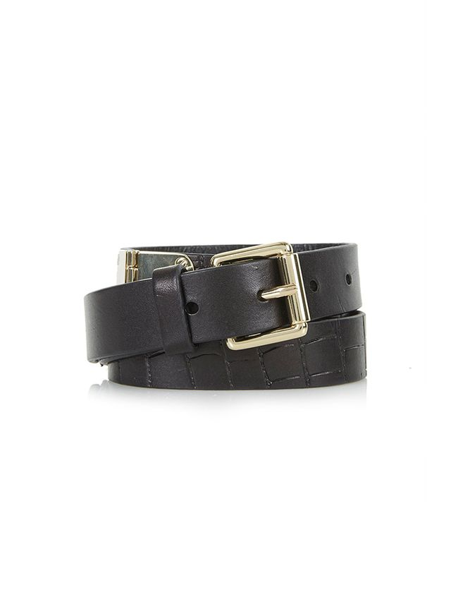 Topshop Leather Hinge Belt