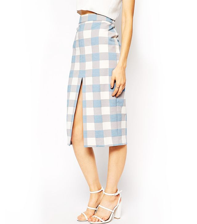 ASOS Pencil Skirt in Gingham Check