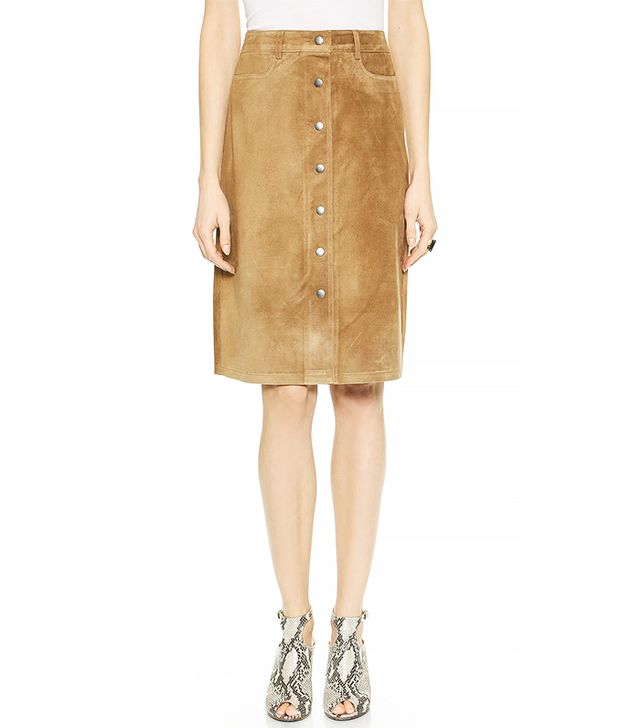 Theory Classic Suede Pemma L Skirt