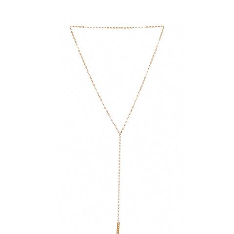 Crystal Bar Lariat Necklace