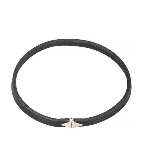 Silver & Leather Choker
