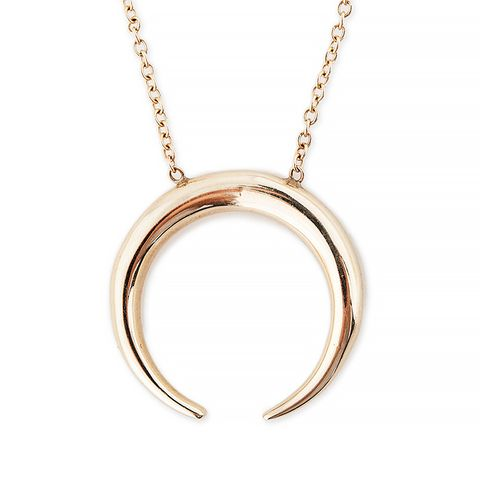 Plain Crescent Horn Necklace