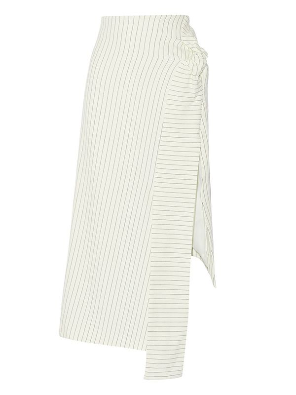 J.W. Anderson Pinstriped Cotton-Blend Skirt